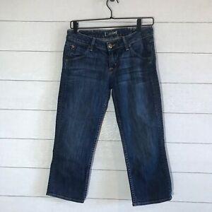 Hudson posteriori Size 27 Jeans Capri Denim Tasche rFt8Yrq