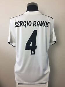 4d74ecf59 SERGIO RAMOS  4 BNWT Real Madrid Home Football Shirt Jersey 2018 19 ...