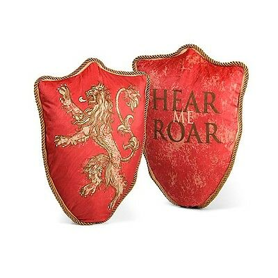 """GAME OF THRONES 22"""" XL Licensed House LANNISTER Sigil SHIELD Throw PILLOW Lion"""