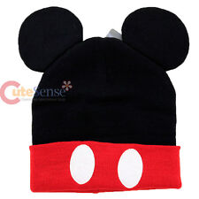 Disney Mickey Mouse Cuff Beanie with 3D Ear Hat Costume Cap