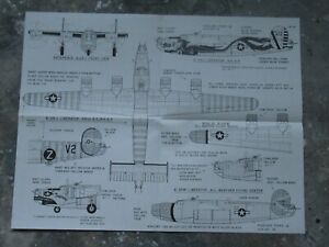 159K-Air-Decals-Plan-of-B-24-Liberators-USA-WWII-55-7-x-43-CM