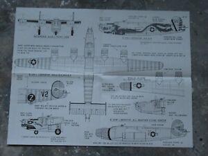 159K-Air-decals-Plan-du-B-24-Liberators-USA-WWII-55-7-X-43-cm