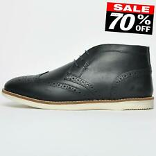 Red Tape Aldford Men's Leather Formal Smart Casual Desert Brogue Ankle Boots