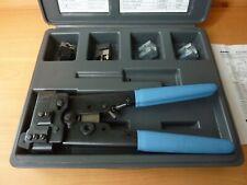 Amp 1 231666 1 Modular Tool Kit Hand Crimp Tool 4 6 Amp 8 Position Dies Amp Case