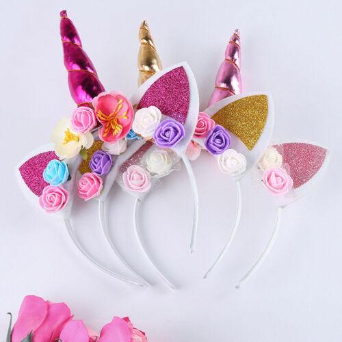 Serre-tête licorne déguisement fantaisie fête anniversaire enfant glitter