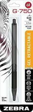 Zebra Pen G 750 Retractable Gel Pen Dark Metal Barrel Medium Point 07mm Dar