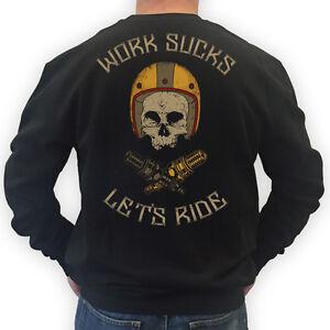 Lets S Pullover 3xl Motorrad Ride Succhia Lavoro Schwarz Biker Maglione Bobber Rocker qvwHtTCxnp