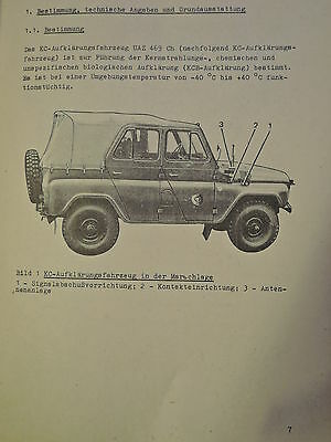 NVA Dienstvorschrift   KC - Aufklärungsfahrzeug UAZ 469 Ch, Beschreibung