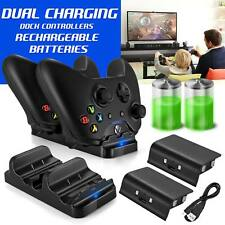 Xbox One Dual Charging Dock Station Controller Charger & 2 Extra Battery Packs