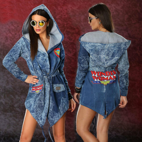 donna Comic da Giacca Summer blazer Ocassion Jeans Xs l Jacket donna Denim Giacca da Giacca uKc35TJlF1