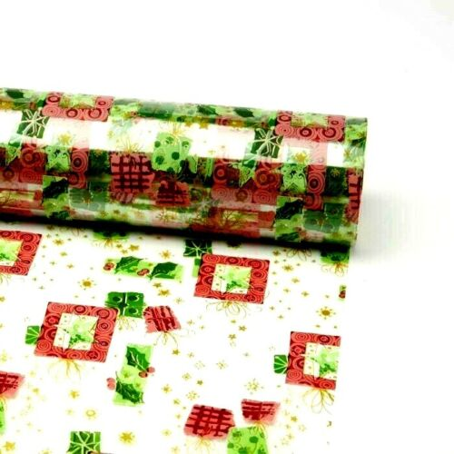 80cm Wide Clear Cellophane Modern Christmas Film Roll Gift Wrap Celophane X-MAS