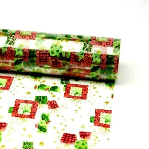 80cm Wide Clear Cellophane Modern Christmas Film Roll Gift Wrap Celophane X-MAS
