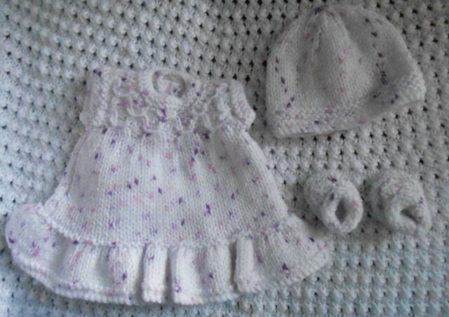 """Doll Clothes Vintage Style White-Lilac Handcrafted suit can fit 10 to 12"""" bisque"""