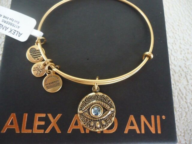 Alex And Ani Evil Eye Expandable Charm Bracelet A17ebeerg Rafaelian Gold V1