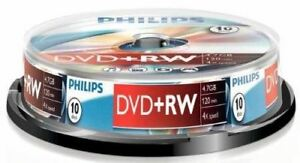 Nueva-Philips-DVD-RW-120-Min-Video-4-7-GB-de-datos-de-4x-de-velocidad-en-blanco-Disco-Husillo-10
