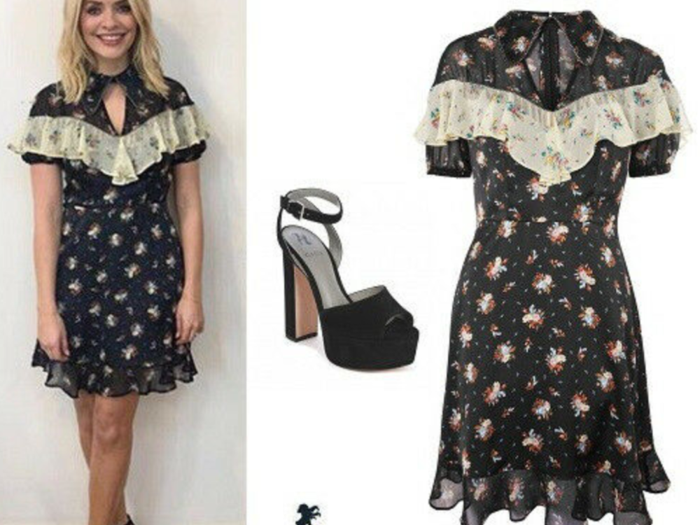Bnwt Topshop Western Rodeo Floral Ruffle Tea Dress Uk 6 Vu Sur Holly Willoughby