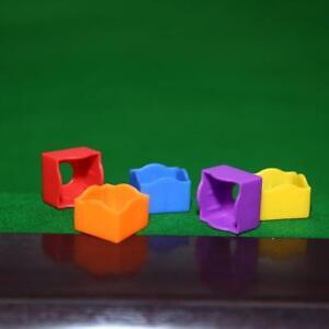 12pcs-6-Colors-Pocket-Pool-Snooker-Billiard-Cue-Chalk-Holder-Cases-NO-Chalk
