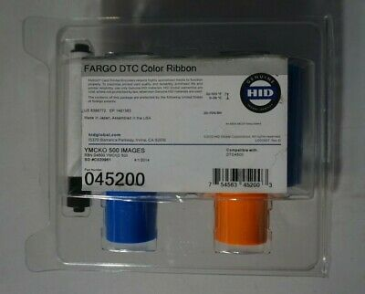 New Fargo 86200 DTC Ribbon YMCKO Color Ribbon 500 Images for DTC550 #2000