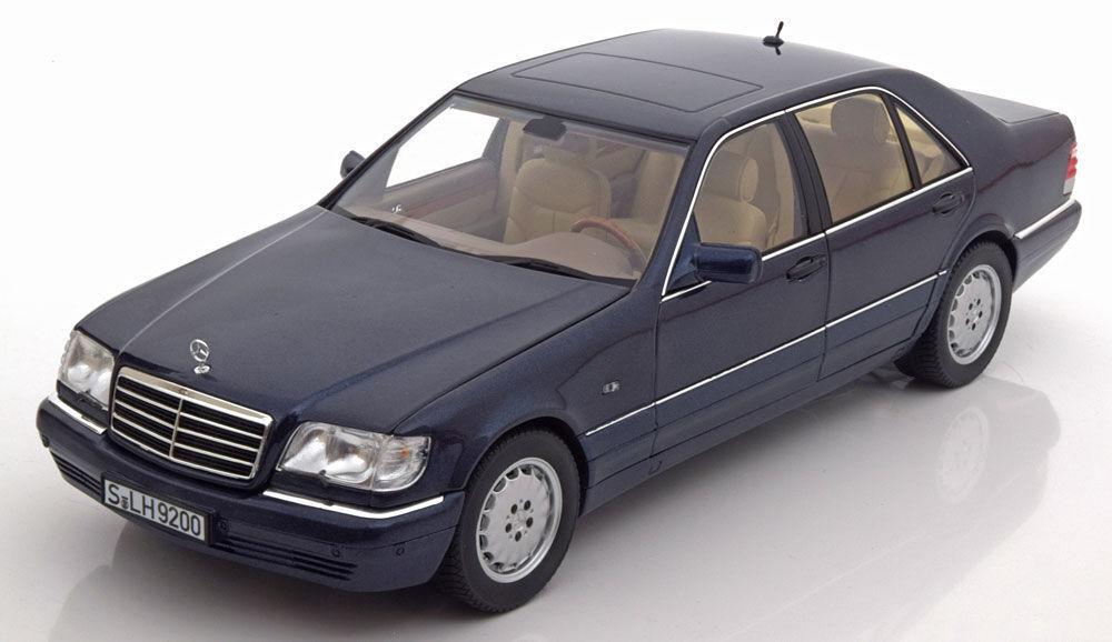 NOREV 1994 MERCEDES BENZ S500 W140 Azurite Bleu Dealer Edition 1 18New objet