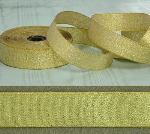 Gold Metallic Ribbon 38mm x 11 metres