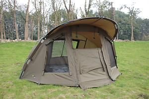 Quest-Comfort-Mk1-Carp-Fishing-Bivvy-amp-Overwrap-1-Man-Overnight-Shelter-Tackle