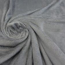 Stoff Meterware Wellness Fleece grau kuschelweich neu Kuschelfleece