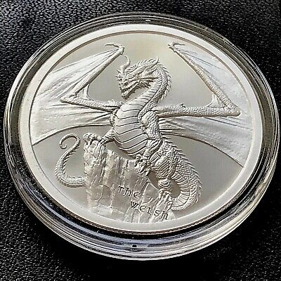 World of Dragons Chinese Dragon in capsule! 1 ounce .999 Silver Round