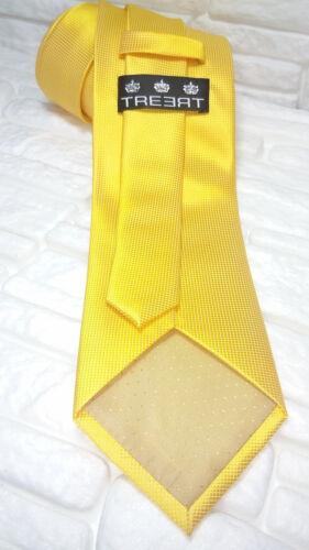 Cravatta uomo oro scuro tinta unita TOP Quality NOVITÀ Made in Italy 100/% seta