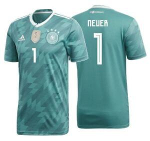 on sale 3fa42 f77d8 Details about ADIDAS MANUEL NEUER GERMANY AWAY JERSEY WORLD CUP 2018.