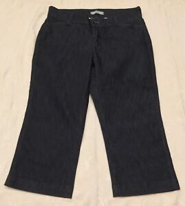 c97f269e RIDERS BY LEE Womens Size 10M Dark Blue DENIM Stretch Cropped CAPRI ...