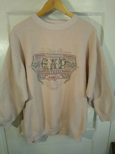 Vintage Express Athletique 1990's baggy embroidere