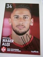 Naser Aliji, Kaiserslautern, Fußball, original Autogramm