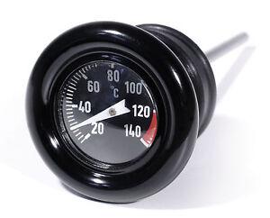 Öl Temperatur Peilstab Celsius Thermometer für Harley-Davidson Softail Sportster
