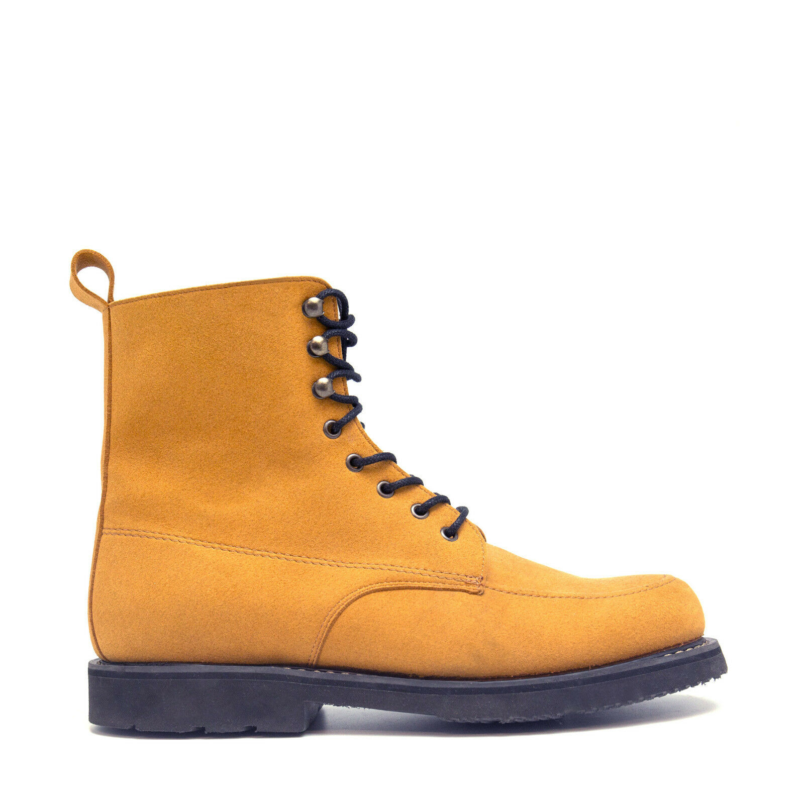 Man Vegan bota Round Toe Ecological Micro-Suede Goodyear System Water Resistant
