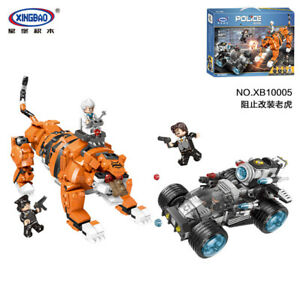 Xingbao-Building-Blocks-Easter-Police-Tiger-Robot-Modell-Gifts-Toys-850PCS