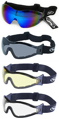 2 Pairs of Global Vision Z-33 Equestrian Goggles 1 Tinted /& 1 Clear /& 2 Pouches