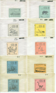Jersey-Stamps-Selection-of-Mint-NH-23-Unexploded-Booklets
