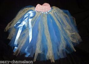 Skirts Baby Or Toddler Girl's Pink Girls' Clothing (newborn-5t) Blue & Yellow Tulle Tutu Skirt Or Dress Relieving Rheumatism