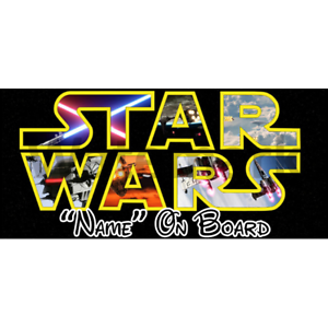 6 Star Wars Personalised Baby On Board Car Sign