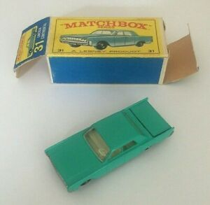 Vintage-MATCHBOX-No-31-Lincoln-Continental-Mint-In-Box-Free-UK-Postage
