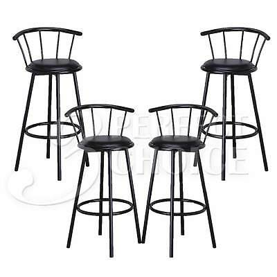 Admirable Set Of 4 Metal Black Swivel Vinyl Seat Pub Bar Stools Chairs Barstool Kitchen Ebay Gamerscity Chair Design For Home Gamerscityorg