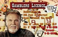 Kenny Rogers Gamblers License. 2 1/2 X 4 Fridge Magnet....free Ship