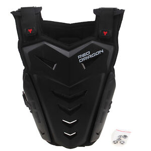 Black Motorcycle Chest Protective Bicycle ATV Racing Body Armor Off Roda Gear