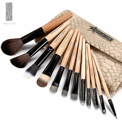 12tlg. Pinsel Set Make Up Brush Schlage mit Kometik Tasche Fraulein3°8