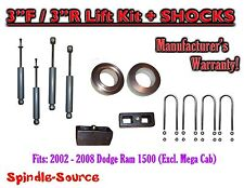 "2002 - 2008 Dodge Ram 1500 2WD 3F / 3R inch Coil Spacer Block Lift 3"" + SHOCKS"