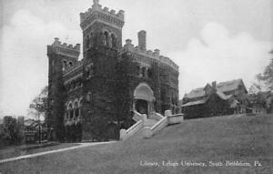 Library-Lehigh-University-South-Bethlehem-PA-ca-1910s-Vintage-Postcard