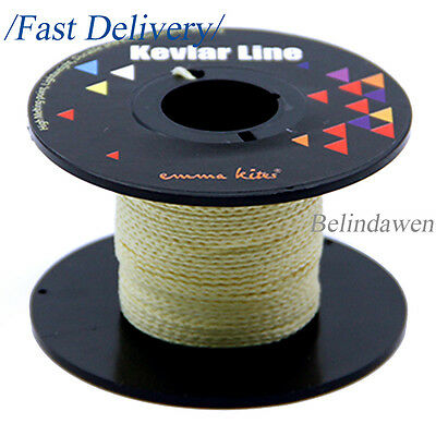 100ft 250lb Braided Kevlar Line Cord  String Survival Camping Sport Fishing Kite