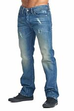 DIESEL MEN'S JEANS SAFADO REGULAR SLIM STRAIGHT-LEG WASH 0075I SIZE W32 L32