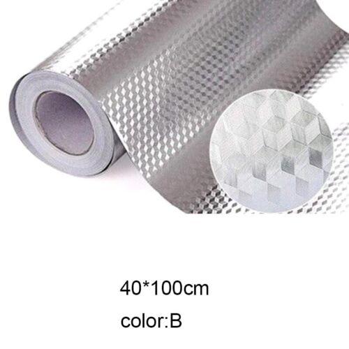 Selbstklebende wasserdichte ölbeständige Aluminiumfolie-Küchenaufkleber Neu