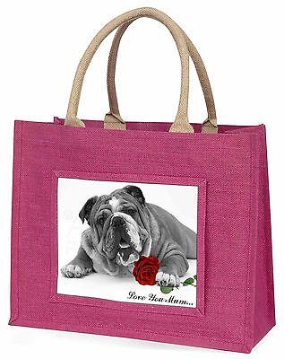 Bulldog S+W 'Liebe, die Sie Mama' Große Rosa Einkaufstasche Weihnachten P,